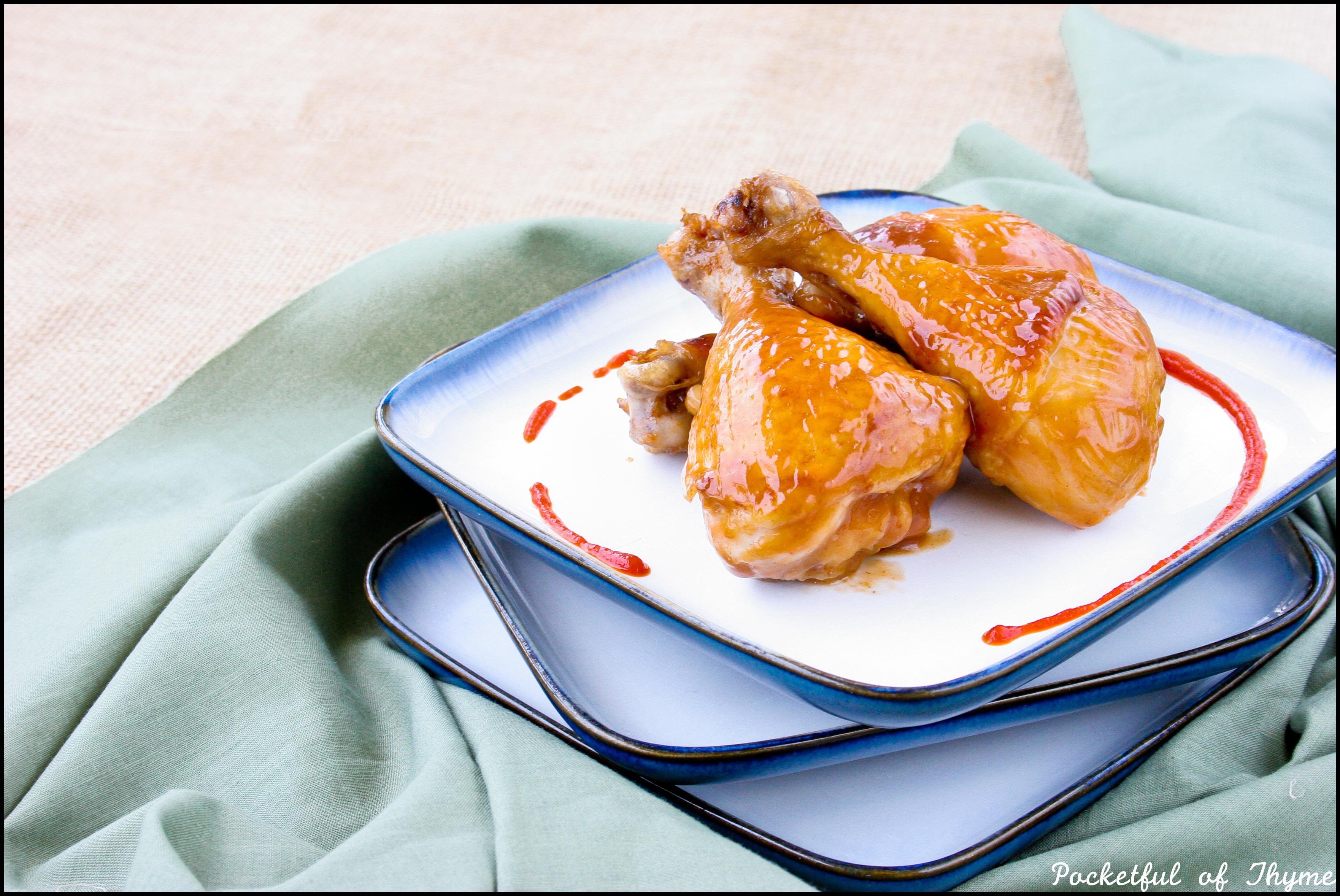 Maple-Sriracha Glazed Chicken | Pocketful of Thyme